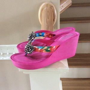 Gianni Bini Shoes Satin Sierra Sandals 4x Host Pick